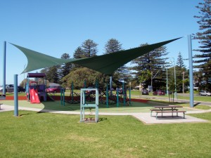 shadecloth covering playground