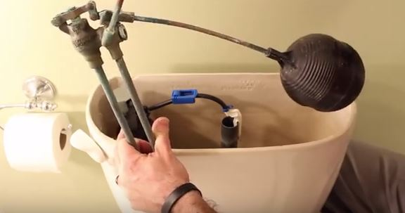 fixing toilet float