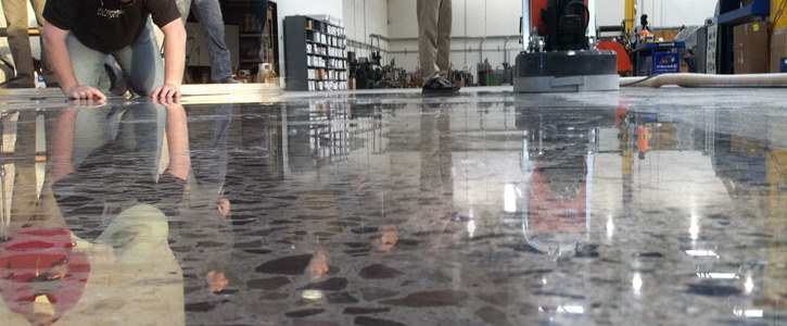 Polishing Concrete Floor